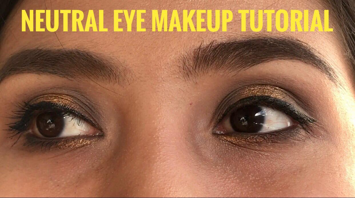 Neutral eye makeup tutorial cat eye makeup prom season is just around the corner i made a neutral eye makeup tutorial for those baditri Images